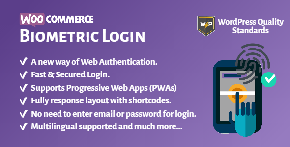 WooCommerce Biometric Login