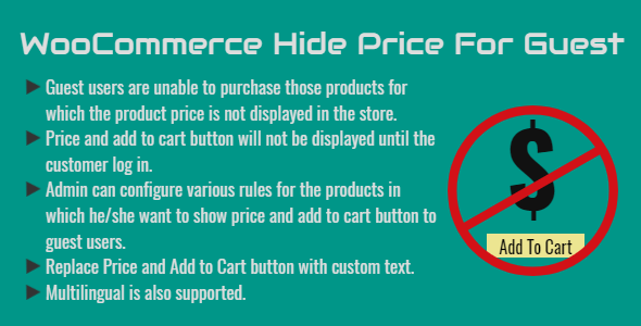 WooCommerce Hide Price For Guest