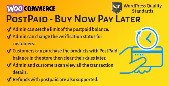 WooCommerce PostPaid