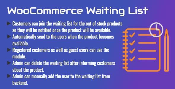 WooCommerce Waiting List