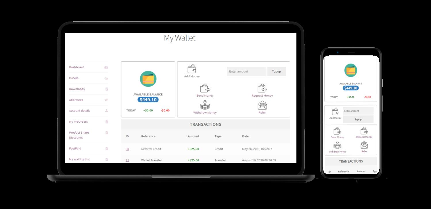 Wallet Responsive Mockup